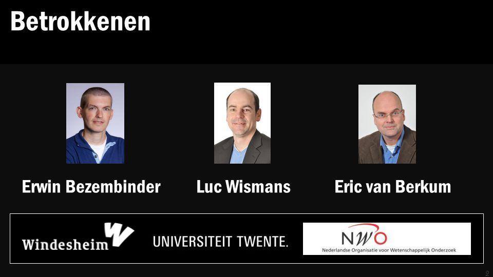 Betrokkenen 2 Erwin Bezembinder Luc Wismans Eric van Berkum