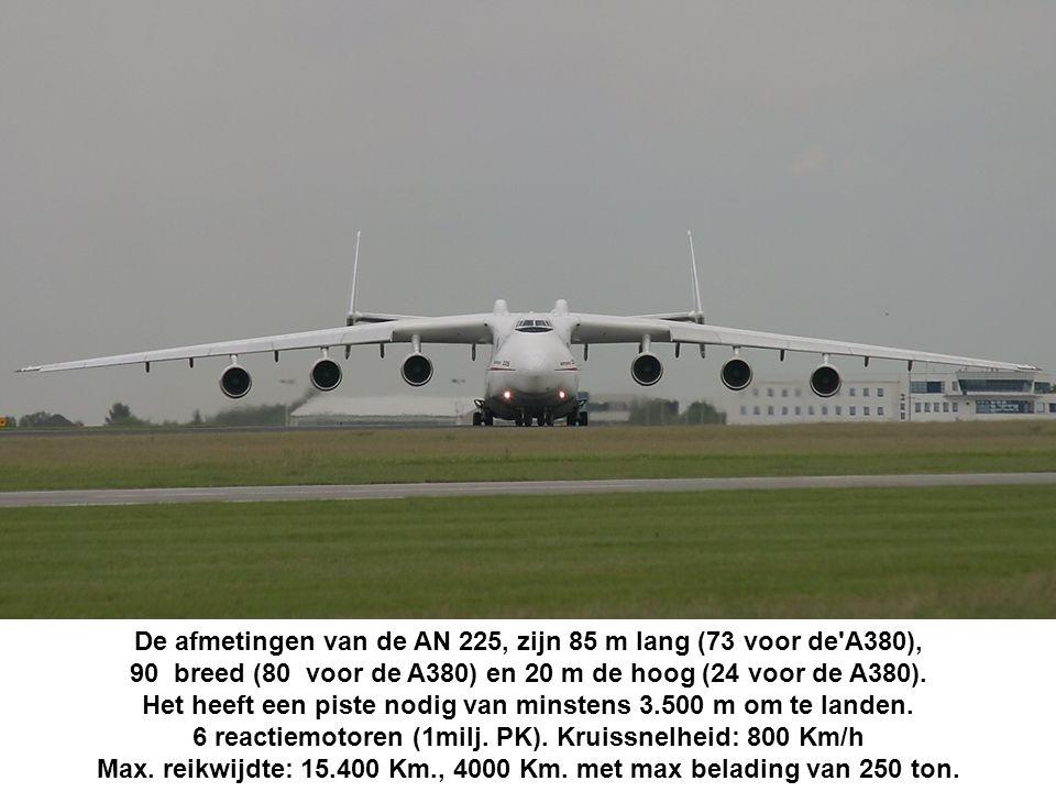 De machine, wordt geëxploiteerd door Ukraïnse Antonov Airlines voor vrachtvluchten op aanvraag.