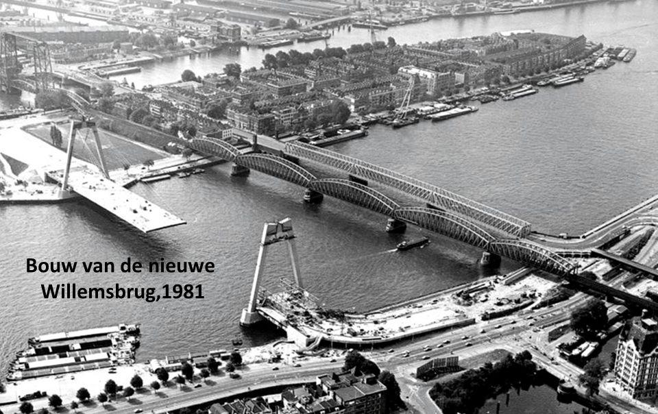 Bouw van de nieuwe Willemsbrug,1981