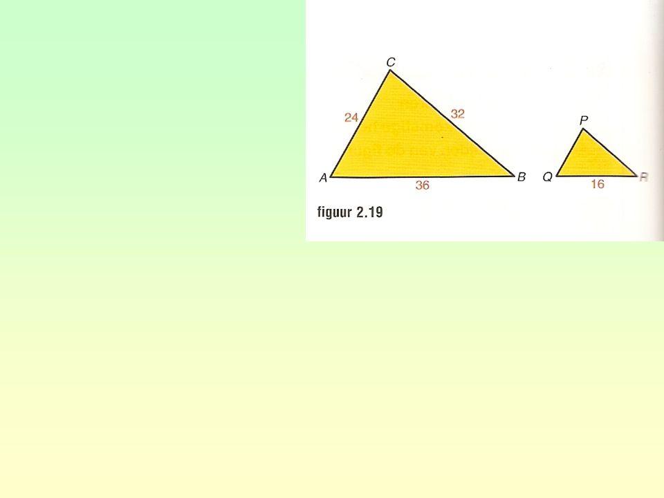 opgave 42 a b geeft PQ = = 7 geeft PR = = 5,6 PQQRPR STTRSR PQ3,5PR 31,52,4 PQ3,5 31,5 3,5 × 3 1,5 3,5PR 1,52,4 3,5 × 2,4 1,5