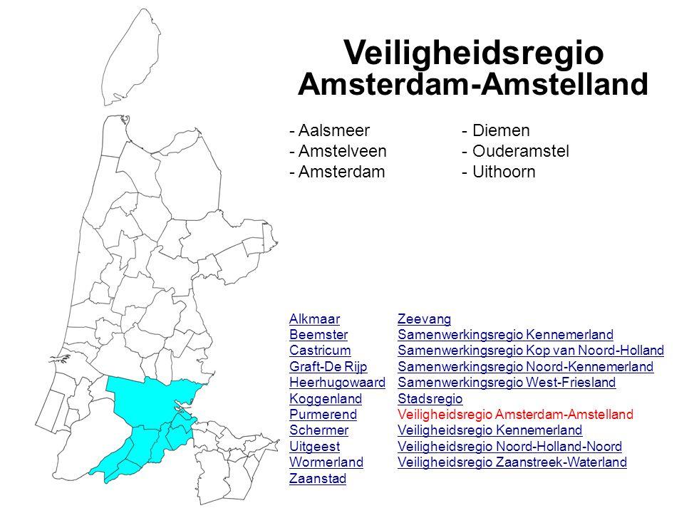 Veiligheidsregio Amsterdam-Amstelland Alkmaar Beemster Castricum Graft-De Rijp Heerhugowaard Koggenland Purmerend Schermer Uitgeest Wormerland Zaansta