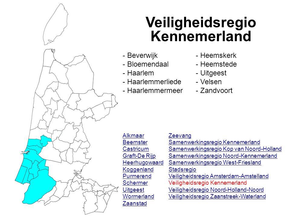 Veiligheidsregio Kennemerland Alkmaar Beemster Castricum Graft-De Rijp Heerhugowaard Koggenland Purmerend Schermer Uitgeest Wormerland Zaanstad Zeevan