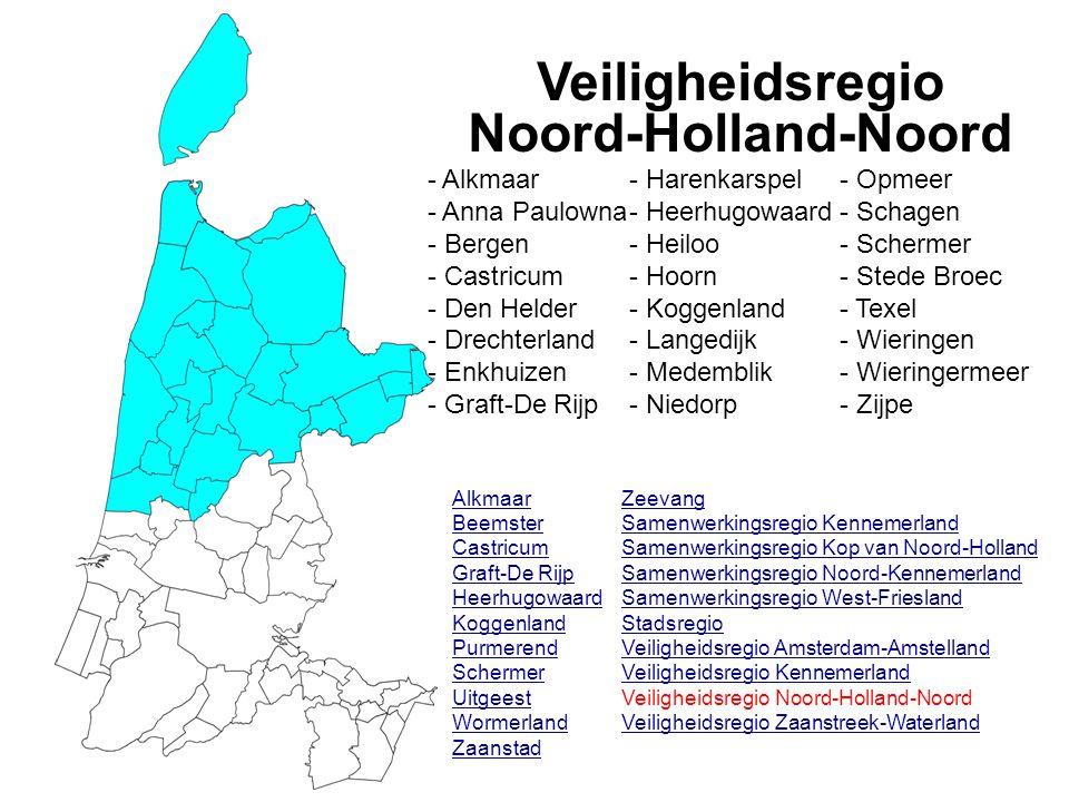 Veiligheidsregio Noord-Holland-Noord Alkmaar Beemster Castricum Graft-De Rijp Heerhugowaard Koggenland Purmerend Schermer Uitgeest Wormerland Zaanstad