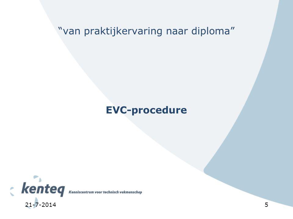 """21-7-20145 """"van praktijkervaring naar diploma"""" EVC-procedure"""