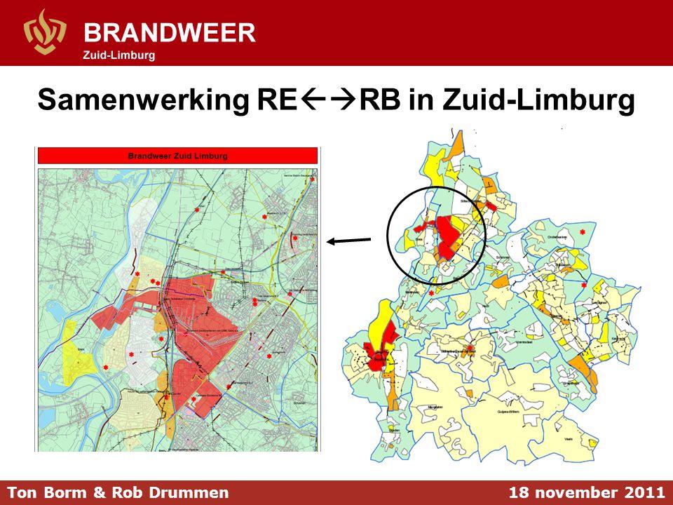 Samenwerking RE  RB in Zuid-Limburg 18 november 2011Ton Borm & Rob Drummen