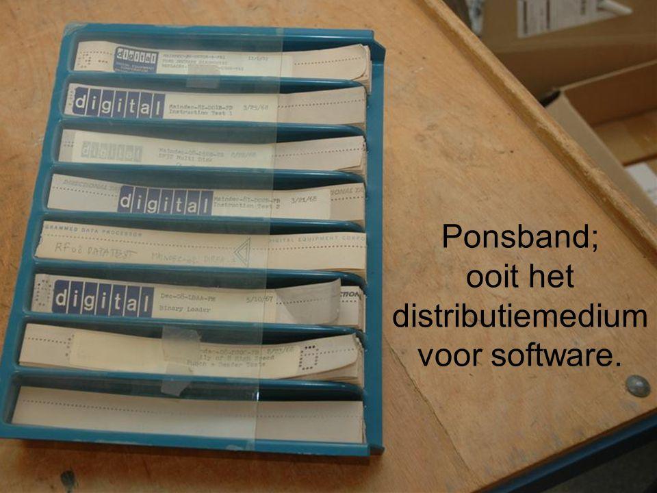 Ponsband; ooit het distributiemedium voor software.