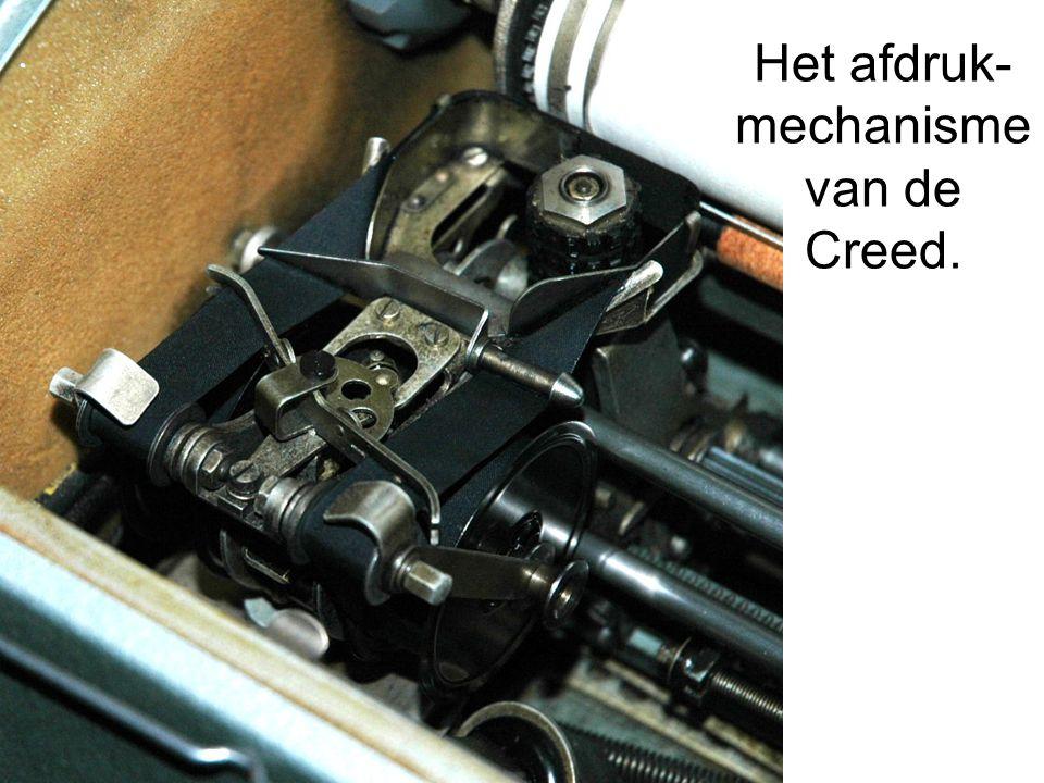 Het afdruk- mechanisme van de Creed.