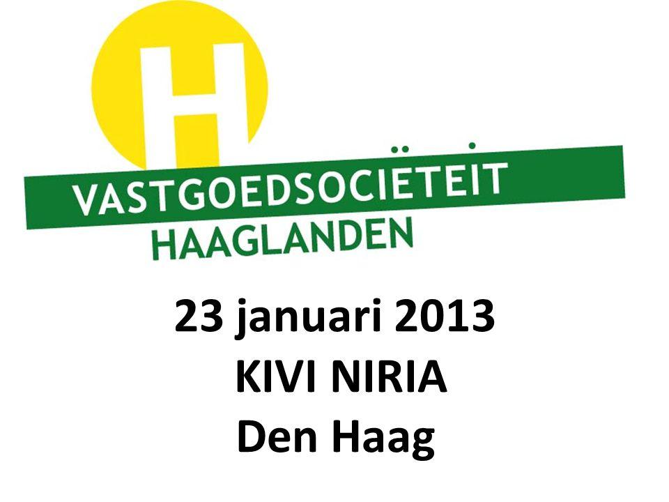 23 januari 2013 KIVI NIRIA Den Haag