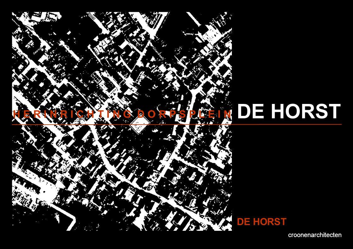 croonenarchitecten DE HORST Voorstel vluchtwegen Kadastraal lijkt er rondom De Horst een vluchtwegbreedte van ca.