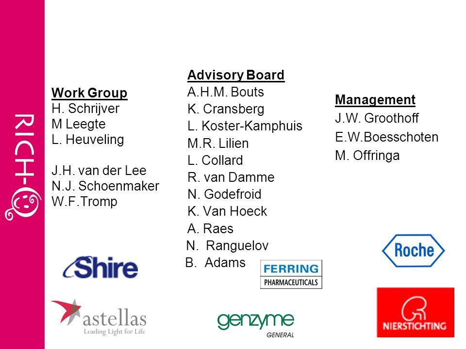 Advisory Board A.H.M.Bouts K. Cransberg L. Koster-Kamphuis M.R.