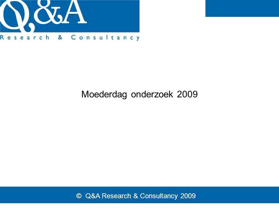 © Q&A Research & Consultancy 2009 Moederdag onderzoek 2009