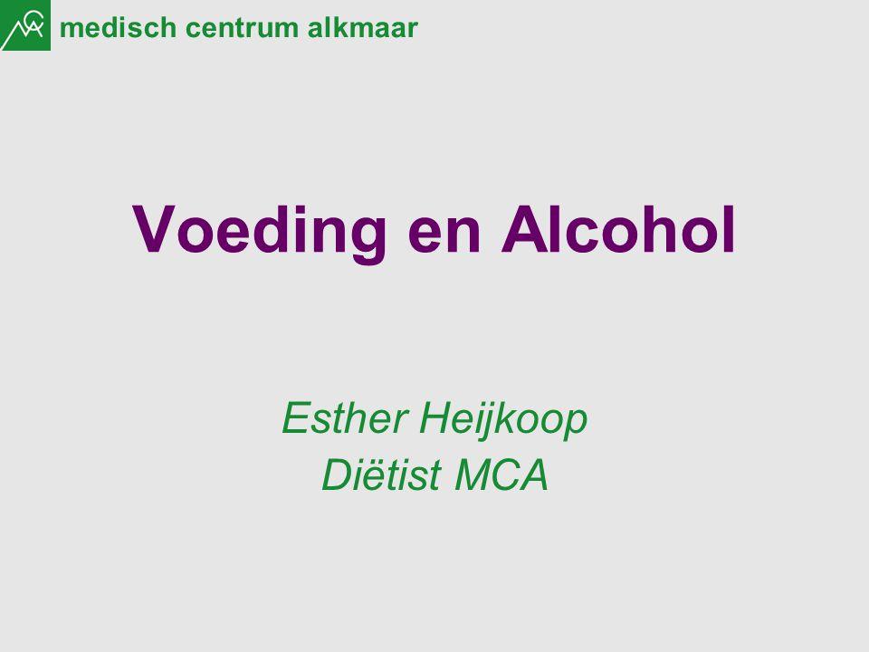 medisch centrum alkmaar Voeding en Alcohol Esther Heijkoop Diëtist MCA