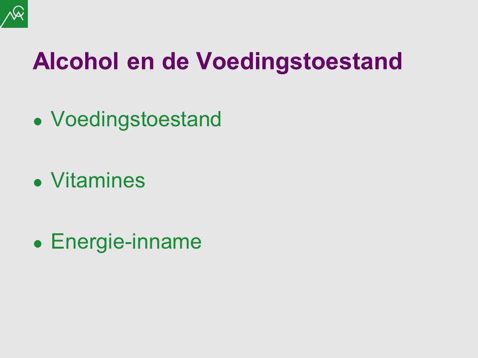 Alcohol en de Voedingstoestand Voedingstoestand Vitamines Energie-inname