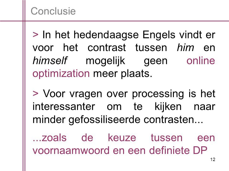 12 Conclusie > In het hedendaagse Engels vindt er voor het contrast tussen him en himself mogelijk geen online optimization meer plaats.