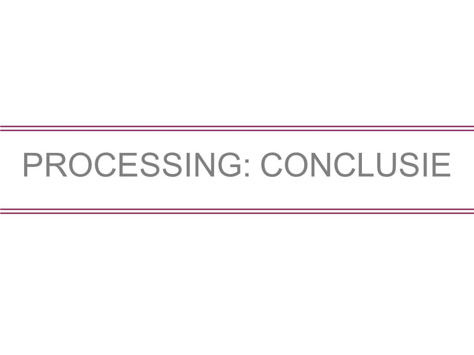 PROCESSING: CONCLUSIE