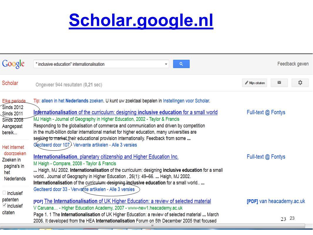 23 Scholar.google.nl 23