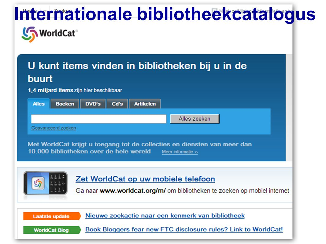 25 Internationale bibliotheekcatalogus