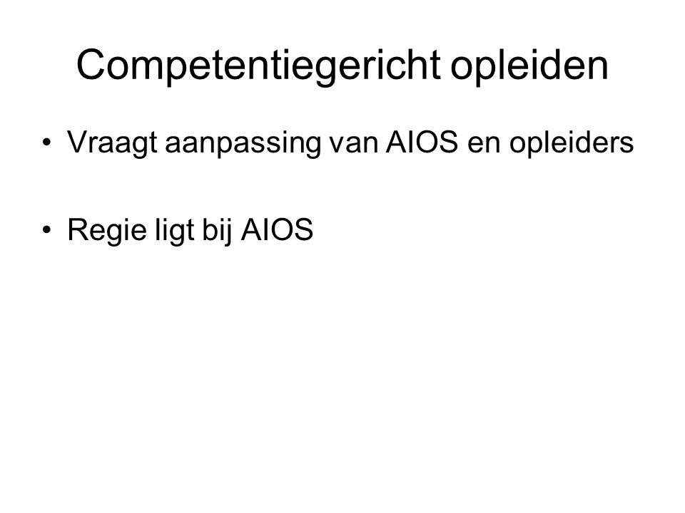 Competentiegericht opleiden Vraagt aanpassing van AIOS en opleiders Regie ligt bij AIOS