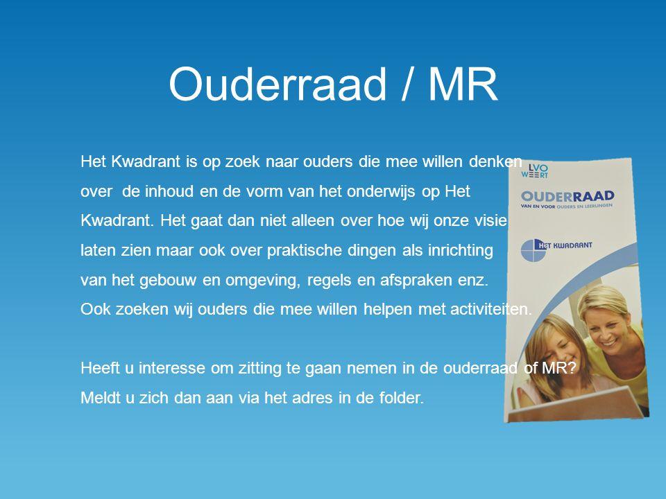 Ouderraad / MR Het Kwadrant is op zoek naar ouders die mee willen denken over de inhoud en de vorm van het onderwijs op Het Kwadrant. Het gaat dan nie