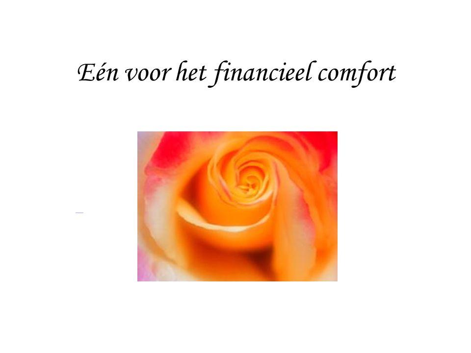 Eén voor het financieel comfort