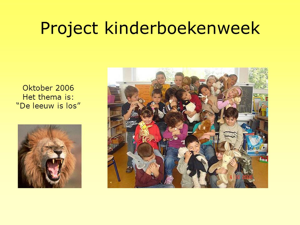 Project welkom September 2006
