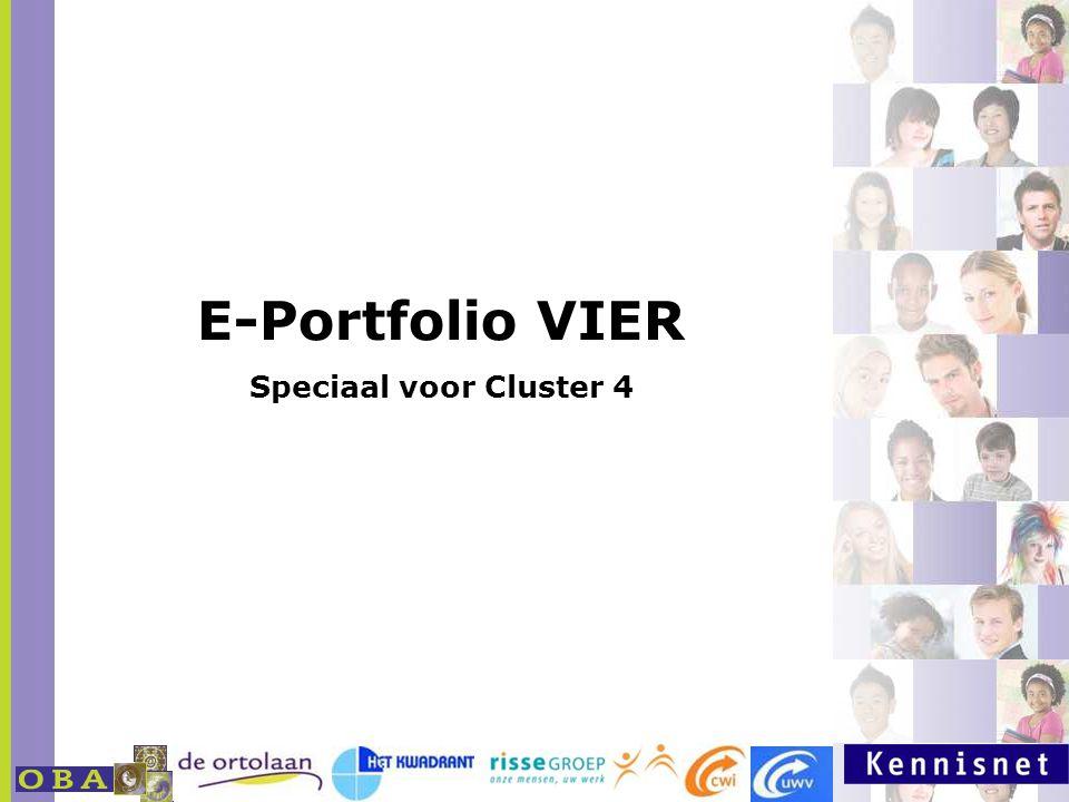 E-Portfolio VIER Speciaal voor Cluster 4