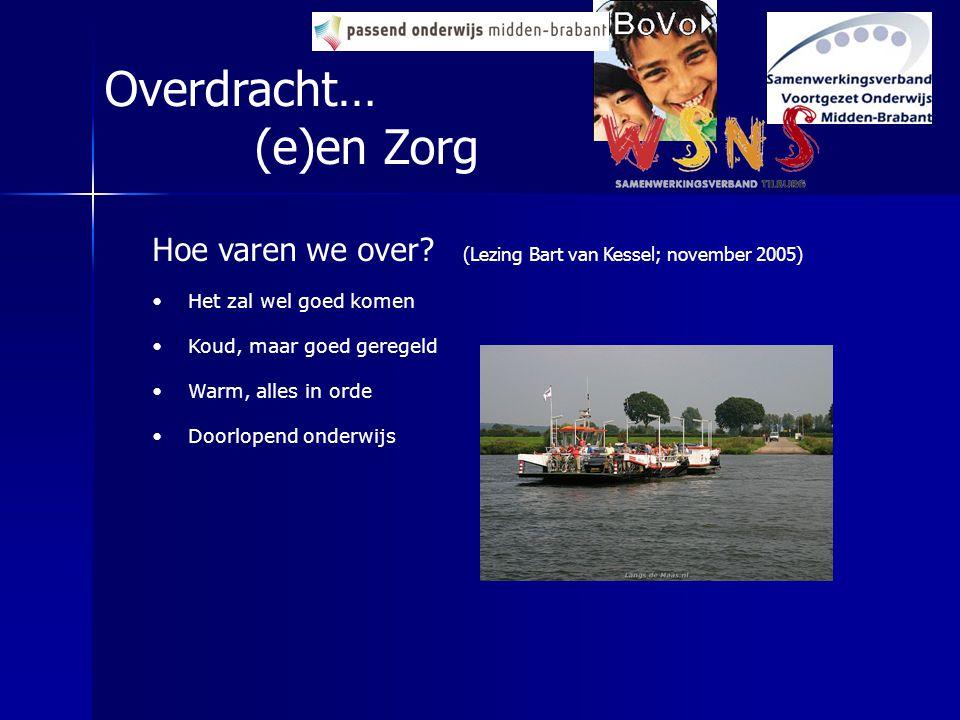 Hoe varen we over? (Lezing Bart van Kessel; november 2005) Het zal wel goed komen Koud, maar goed geregeld Warm, alles in orde Doorlopend onderwijs Ov