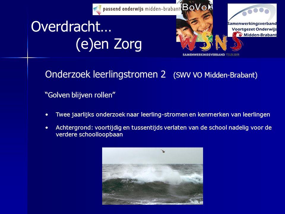 """Overdracht… (e)en Zorg Onderzoek leerlingstromen 2 (SWV VO Midden-Brabant) """"Golven blijven rollen"""" Twee jaarlijks onderzoek naar leerling-stromen en k"""