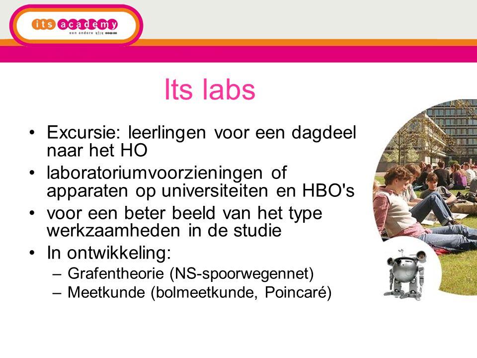 Its labs Excursie: leerlingen voor een dagdeel naar het HO laboratoriumvoorzieningen of apparaten op universiteiten en HBO's voor een beter beeld van