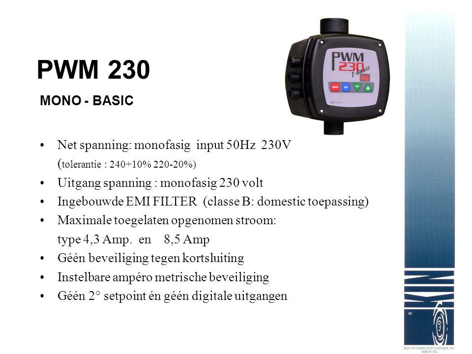 Net spanning: monofasig input 50Hz 230V ( tolerantie : 240+10% 220-20%) Uitgang spanning : monofasig 230 volt Ingebouwde EMI FILTER (classe B: domesti