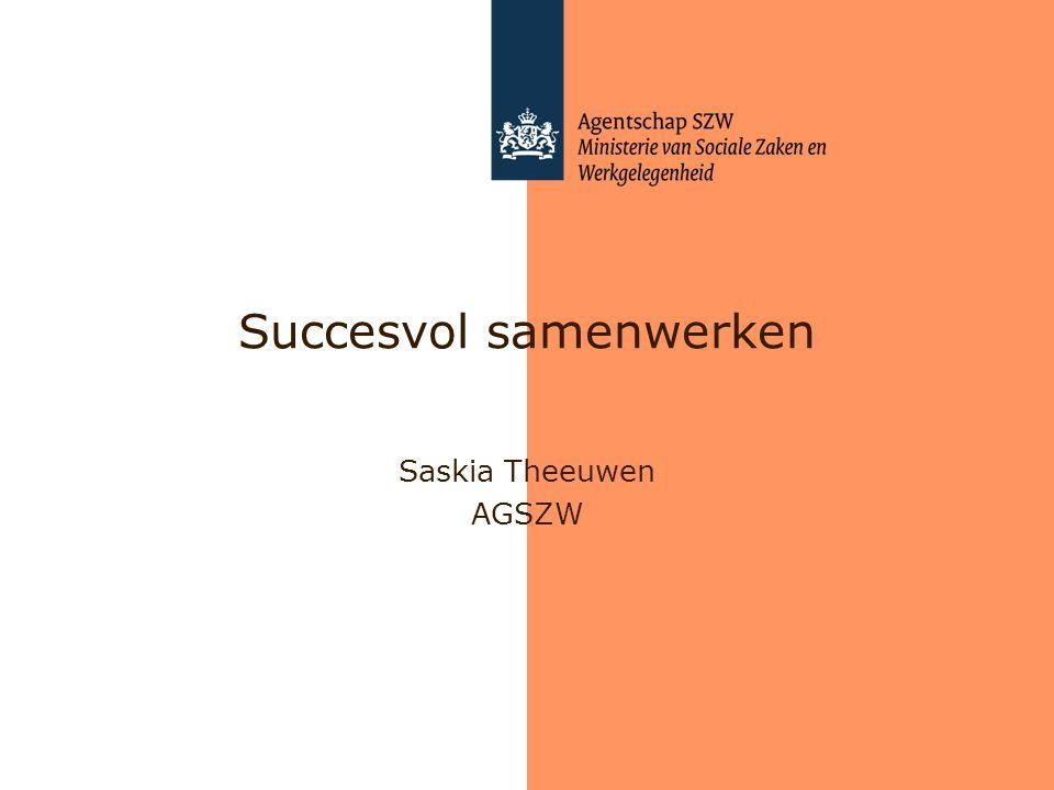 Succesvol samenwerken Saskia Theeuwen AGSZW
