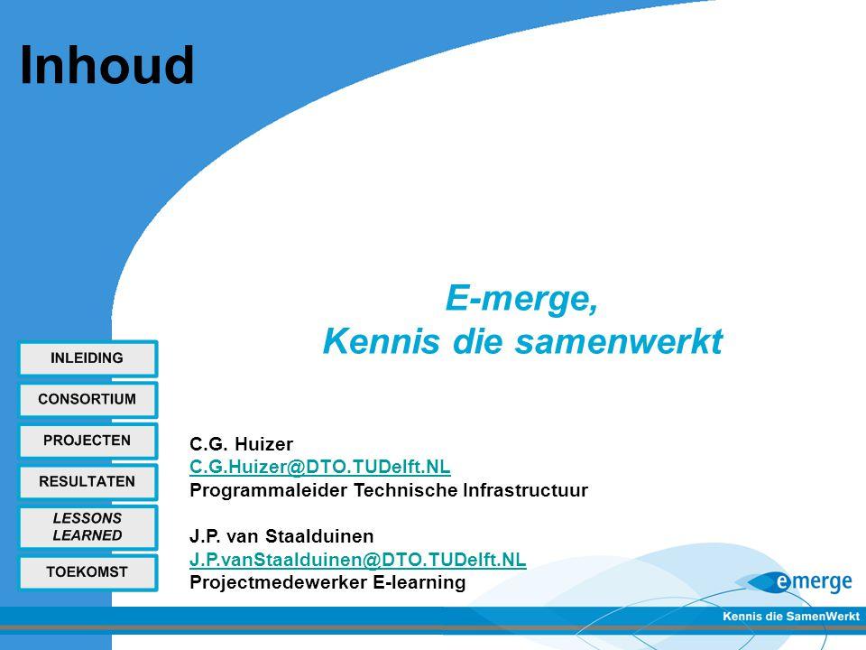 Inleiding - E-merge consortium