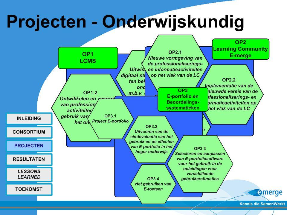 Projecten - Onderwijskundig