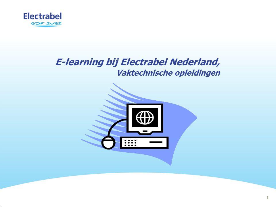 1 E-learning bij Electrabel Nederland, Vaktechnische opleidingen