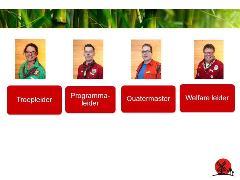 Troepleider Programma- leider Quatermaster Welfare leider