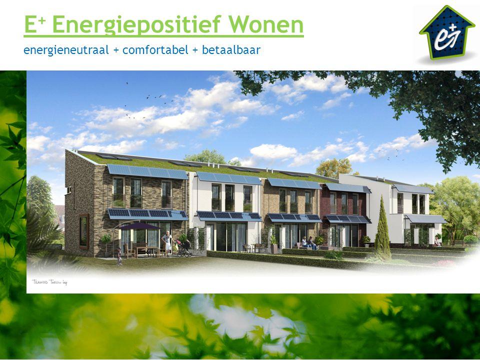 E + Energiepositief Wonen energieneutraal + comfortabel + betaalbaar