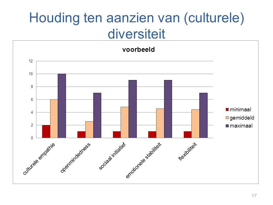 Houding ten aanzien van (culturele) diversiteit 17