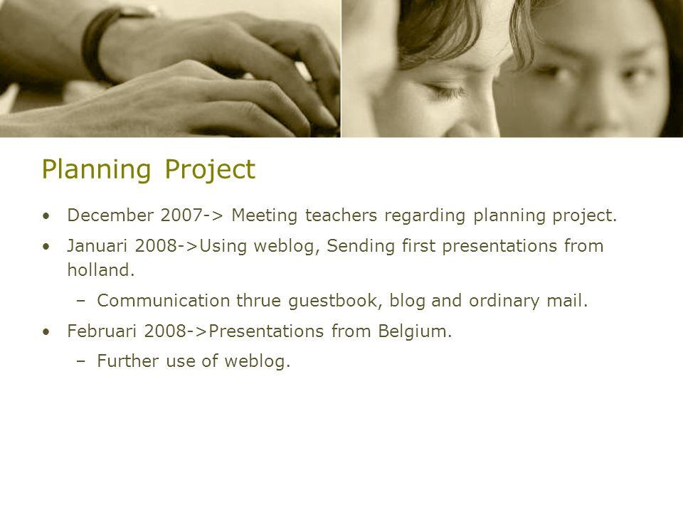 Introduction Welcome We are… –Anneke van Vliet: PCBS Willem de Zwijger, Leiderdorp/Nederland –Davy De Rijbel: OLV Pulhof, Berchem/België Why are we pa