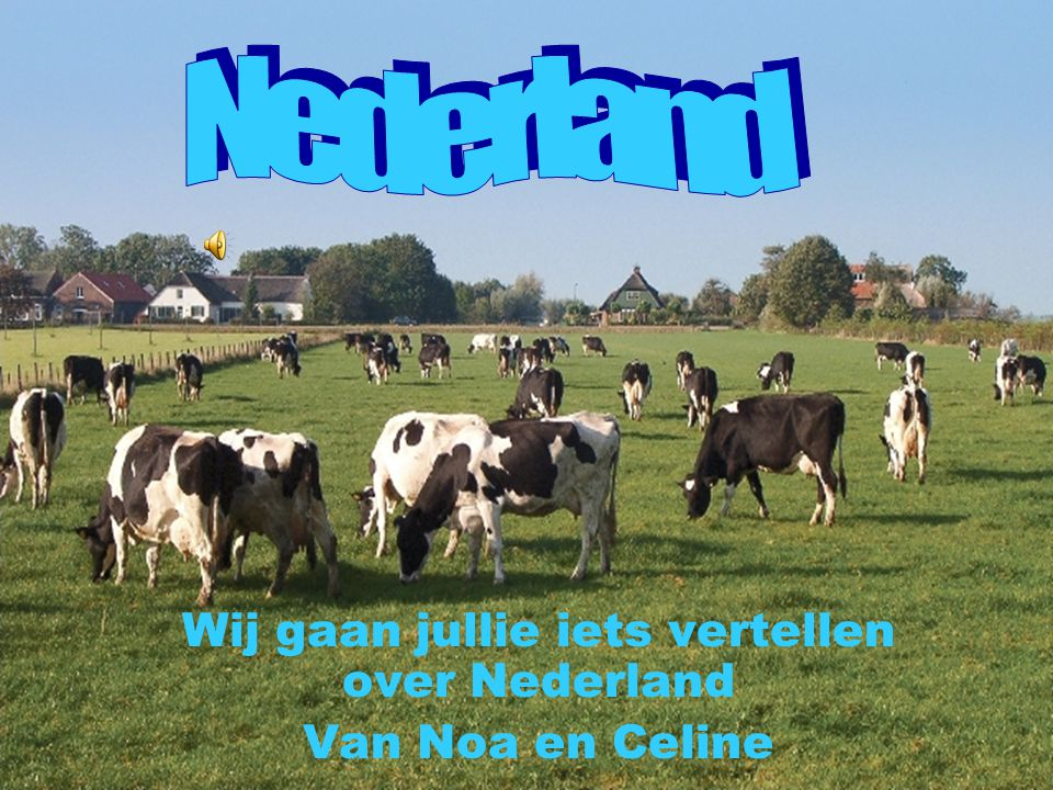 Wij gaan jullie iets vertellen over Nederland Van Noa en Celine