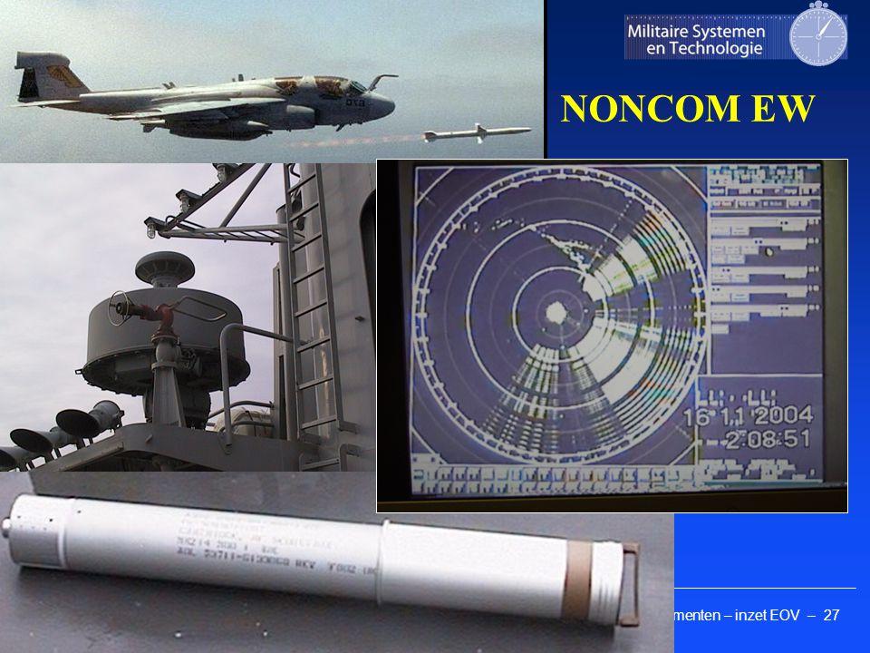 Kennis elementen – inzet EOV – 27 Faculteit Militaire Wetenschappen NONCOM EW