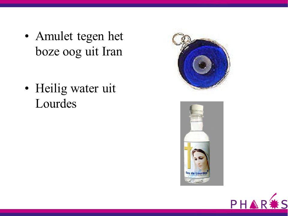 Amulet tegen het boze oog uit Iran Heilig water uit Lourdes