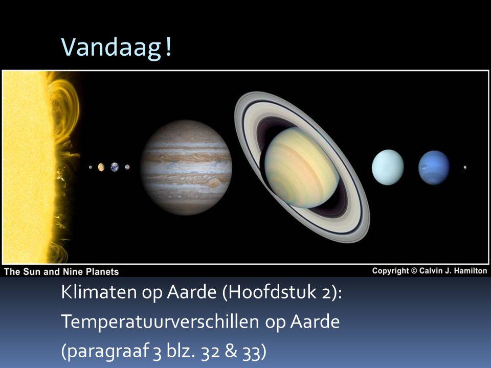Vandaag! Klimaten op Aarde (Hoofdstuk 2): Temperatuurverschillen op Aarde (paragraaf 3 blz. 32 & 33)
