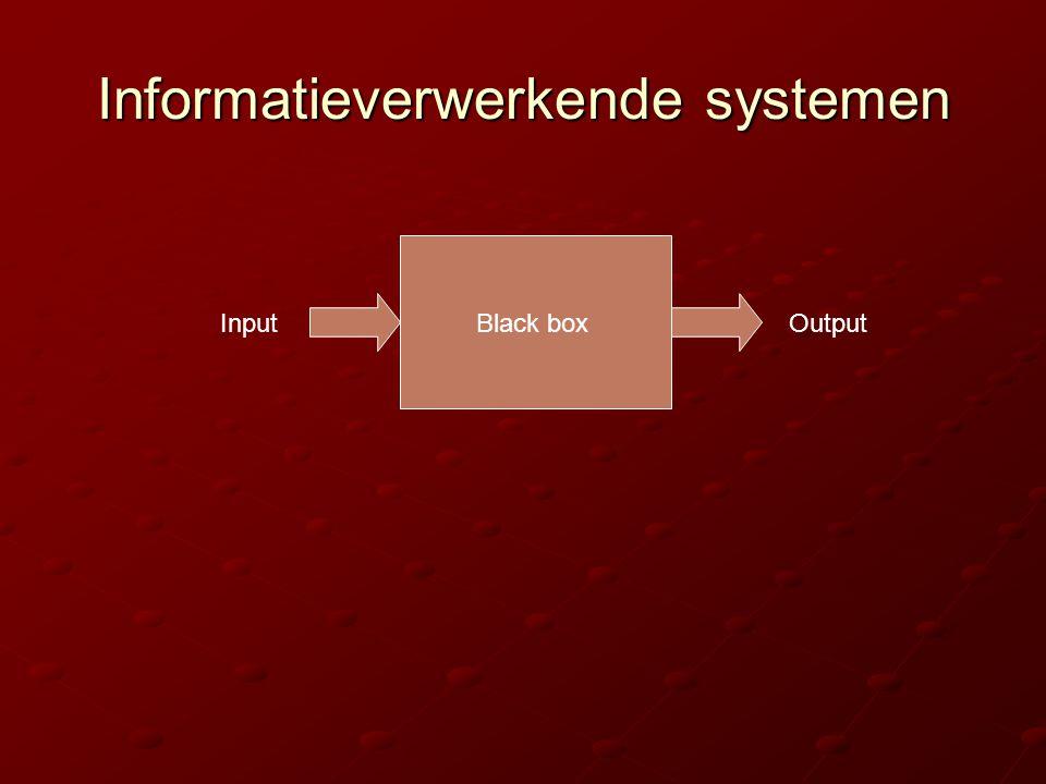 Informatieverwerkende systemen InputOutputBlack box
