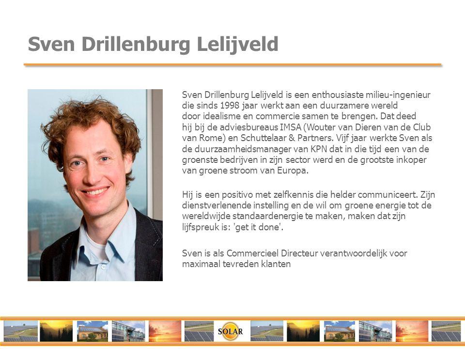 Sven Drillenburg Lelijveld Sven Drillenburg Lelijveld is een enthousiaste milieu-ingenieur die sinds 1998 jaar werkt aan een duurzamere wereld door id