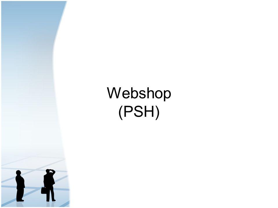 Webshop (PSH)