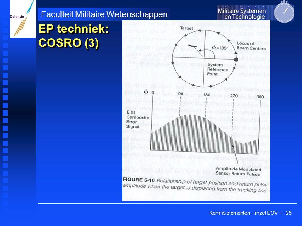 Kennis elementen – inzet EOV – 25 Faculteit Militaire Wetenschappen EP techniek: COSRO (3)