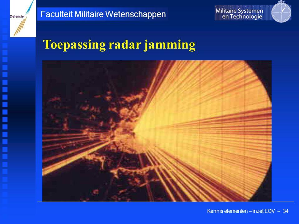 Kennis elementen – inzet EOV – 34 Faculteit Militaire Wetenschappen Toepassing radar jamming
