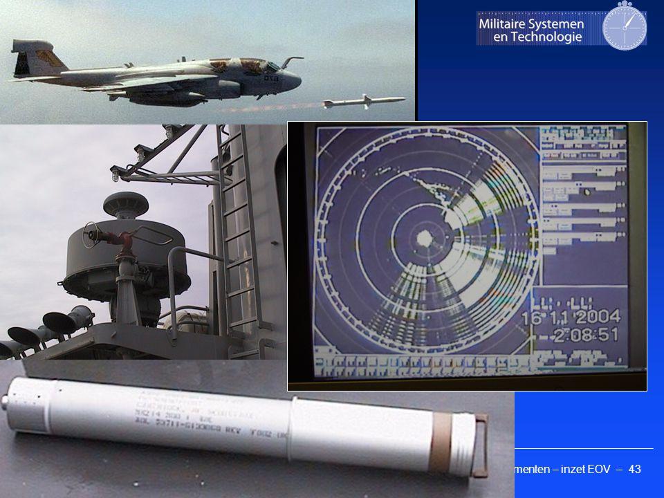 Kennis elementen – inzet EOV – 43 Faculteit Militaire Wetenschappen