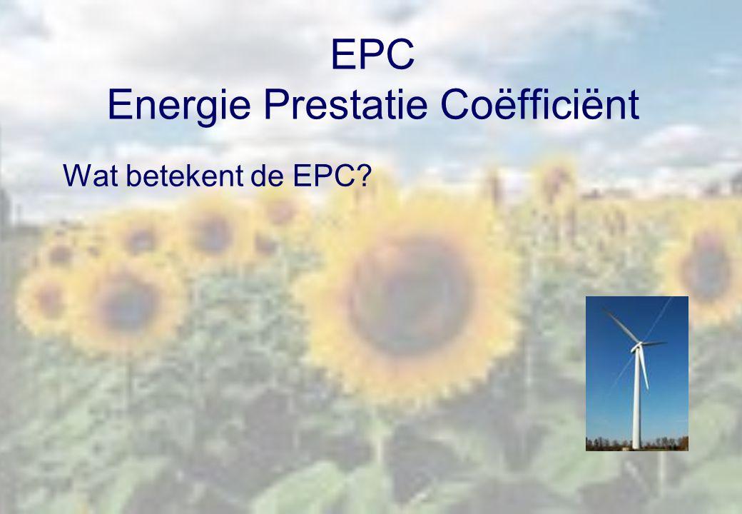 EPC Energie Prestatie Coëfficiënt Wat betekent de EPC?