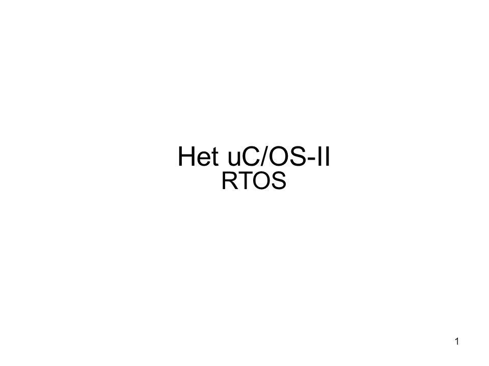 22 Wanneer een taak wordt gemaakt, wordt er een Task Control Block aangewezen, OS_TCB OS_TCB is een data structuur die wordt gebruikt door UC/OS-II de state van een taak bij te behouden wanneer het preempted wordt Alle OS_TCB staan in het RAM Een OS_TCB wordt geïnitialiseerd wanneer een taak wordt gemaakt Beheer van de taken